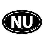 Niue country bumper sticker -Black (Oval)