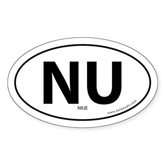 Niue country bumper sticker -White (Oval)