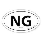 Nigeria country bumper sticker -White (Oval)