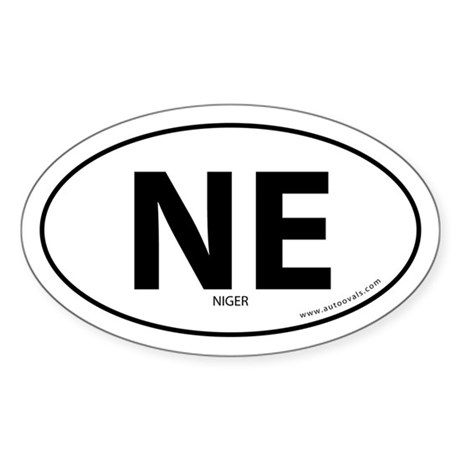 Niger country bumper sticker -White (Oval)