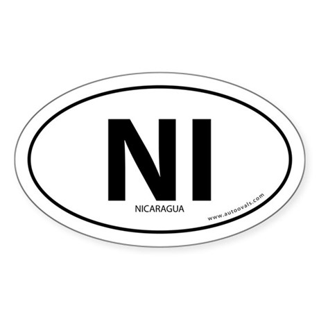 Nicaragua country bumper sticker -White (Oval)