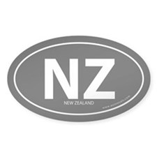 New Zealand country bumper sticker -Black (Oval)