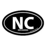 New Caledonia country bumper sticker -Black (Oval)