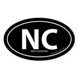 New Caledonia country bumper sticker -Black (Oval)