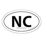 New Caledonia country bumper sticker -White (Oval)