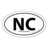 New Caledonia country bumper sticker -White (Oval)