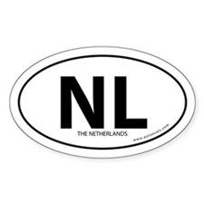 Netherlands country bumper sticker -White (Oval)