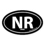 Nauru country bumper sticker -Black (Oval)