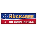 Burn in Hell Huck Bumper Sticker