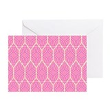 PINK HONEYCOMB Greeting Cards (Pk of 10)
