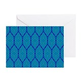 BLUE GREEN HONEYCOMB Greeting Cards (Pk of 20)