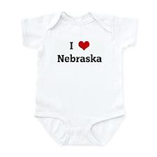 I Love Nebraska Infant Bodysuit