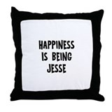 Happiness is being Jesse Throw Pillow