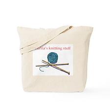 Yia-yia's Knitting Tote Bag