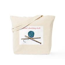 Bubbie's Knitting Tote Bag