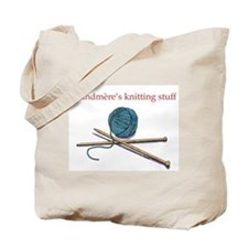 Grandmere's Knitting Tote Bag