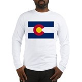"""Colorado State Flag"" Long Sleeve T-Shirt"