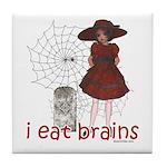 I Eat brains Tile Coaster