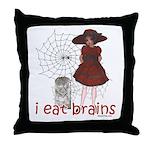 I Eat brains Throw Pillow