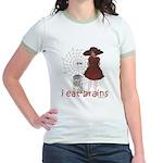 I Eat brains Jr. Ringer T-Shirt