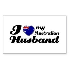 I love my Australian husband Rectangle Decal