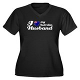 I love my Australian husband Women's Plus Size V-N