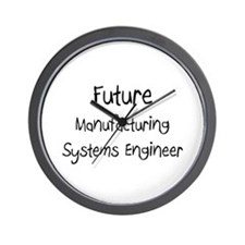 Future Manufacturing Systems Engineer Wall Clock