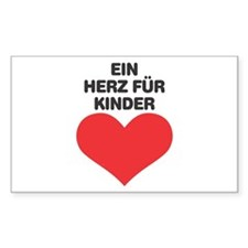 Ein Herz Fuer Kinder Rectangle Decal