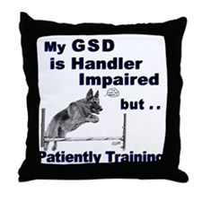 GSD Agility Throw Pillow