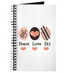 Peace Love Ski Skiing Journal