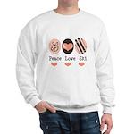 Peace Love Ski Skiing Sweatshirt