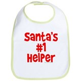 Santa's #1 Helper Bib
