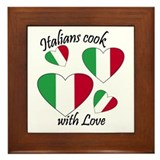 Italians Cook Framed Tile