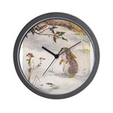 1927 Christmas Bunny Wall Clock