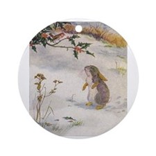 1927 Christmas Bunny Ornament (Round)