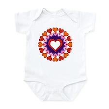 Heart Circle Infant Bodysuit