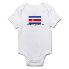 Costa Rican girls love me Infant Bodysuit