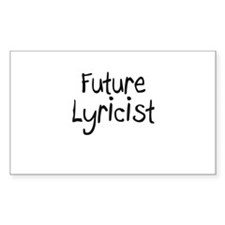 Future Lyricist Rectangle Decal