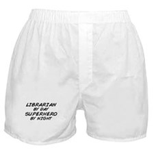 Librarian Superhero by Night Boxer Shorts