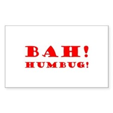 Bah! Humbug! Rectangle Decal