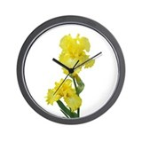 Yellow Iris Wall Clock