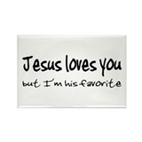 Jesus Loves You Rectangle Magnet (10 pack)