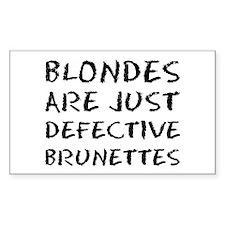 Defective Brunette Rectangle Decal