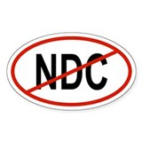NDC Oval Decal