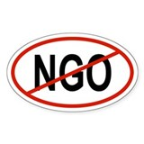 NGO Oval Decal