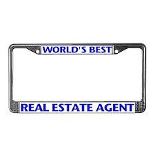 WORLD'S BEST (Blue) License Plate Frame
