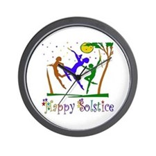 Winter Solstice Dancers Wall Clock