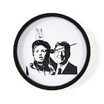 Ron gives Hillary the rabbit ea Wall Clock