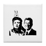 Ron gives Hillary the rabbit ea Tile Coaster