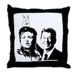 Ron gives Hillary the rabbit ea Throw Pillow